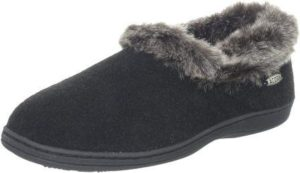 Acorn Women's Faux Chinchilla Collar Slipper