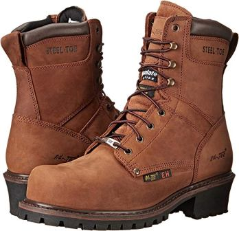 AdTec Men's 9inch Steel-Toe Super Logger Boot