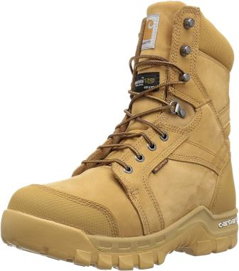 Carhartt Men's 8-Inch Rugged Flex Insulated Waterproof Breathable Soft Toe Work Boot