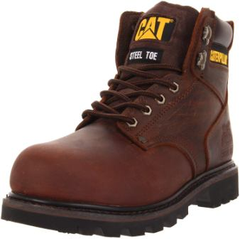 Caterpillar Men's Second Shift Steel Toe Work Boot for landscaping