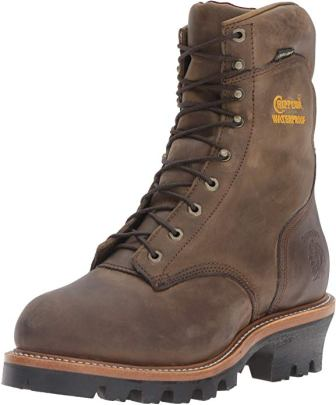 Chippewa Men's 9inch Waterproof Insulated Steel-Toe EH Logger Boot