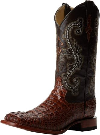 Ferrini Men's Print Crocodile the top square toe cowboy boot