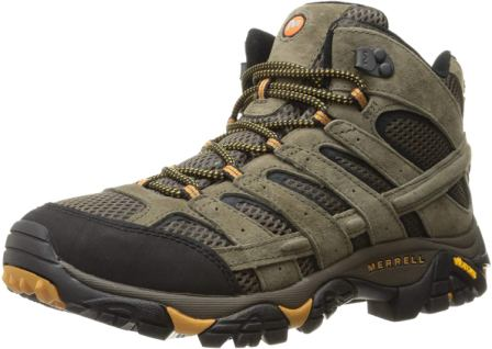 Merrell Men's Moab 2 Vent Mid the Best Work Boots for Landscaping