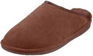Old Friend Men's Sheepskin Scuff house slippers with arch support