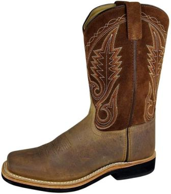 Smoky Mountain Men's Boonville Leather Square Toe Boot