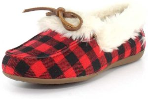 vionic womens cozy juniper moc toe shearling slipper shoes
