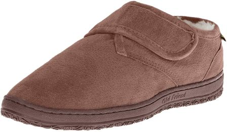 Old Friend Men's Strap Slipper: adjustable shoes for swollen feet
