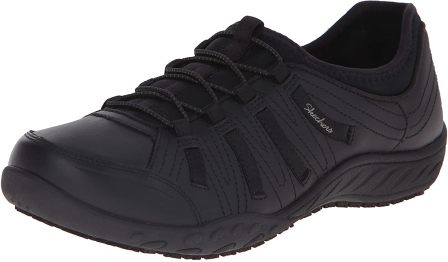 Skechers for Work Women's 76578 Bungee Lace-Up Sneaker, best shoes for working on concrete