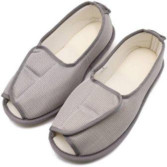 Women's Extra Extra Wide Slippers with Adjustable Closure