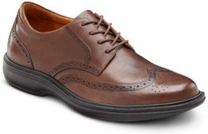 Dr. Comfort Wing Men's Therapeutic Extra Depth Dress Shoe