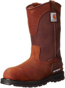 Carhartt Men's Waterproof Soft Toe Pull-on Leather Work Boot