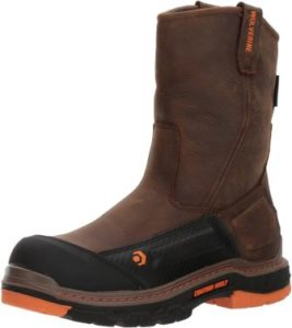 Wolverine Men's Overpass 10 Composite Toe, most comfortable pull on work boots
