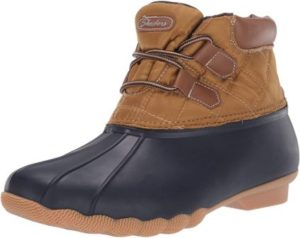 Skechers Women's Hampshire Ridge-Mid Quilted Lace Up Duck Boot