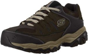 Skechers Men's Afterburn Memory-Foam Lace-up Shoes, best shoes for arthritis 2021