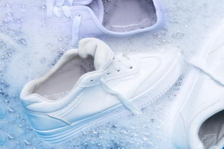 Soaking The Soles With Dish Soap